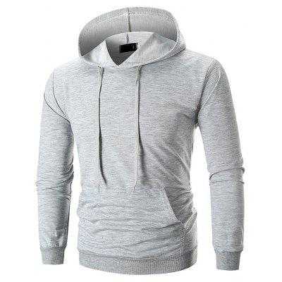 Solid Color Comfortable Sports Hoodie for Man