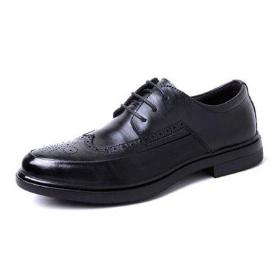 Viseletálló Stílusos Lace-up Men Bőr Casual Shoes