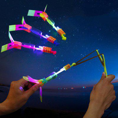 LED Light Flying Arrow Elastic Powered Slingshot Toy Set