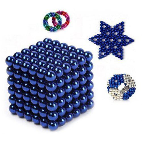 Kids 5mm Educational Fidget Magnetic Ball Toy 216pcs ROYAL BLUE