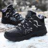 Thickening Microfiber Mountaineering Shoes for Men - BLACK
