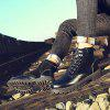 High-top Comfortable Leather Shoes for Man - BLACK
