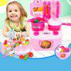 Children Cutting Fruit Vegetables Pretend Play Toy 37pcs - HOT PINK