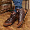 Men Stylish Comfortable Leisure Leather Casual Boots - DEEP BROWN