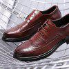 Wear-resistant Stylish Lace-up Men Leather Casual Shoes - BURGUNDY