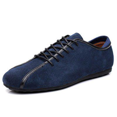 Suede Loafers Casual Flat Shoes for Men