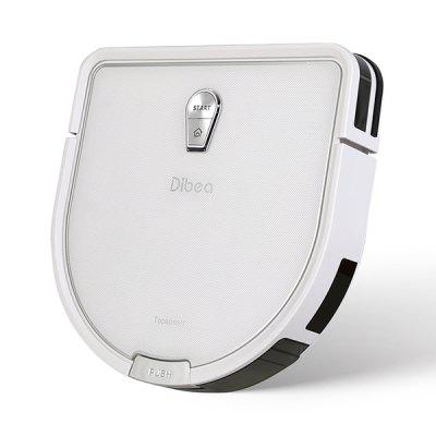 Dibea GT200 Smart Gyroscope Sweeper Automatic Cleaning Robot - CRYSTAL CREAM
