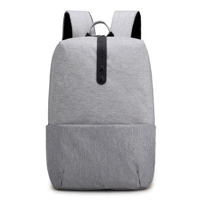 Leisure Business Water-resistant Solid Color Laptop Backpack