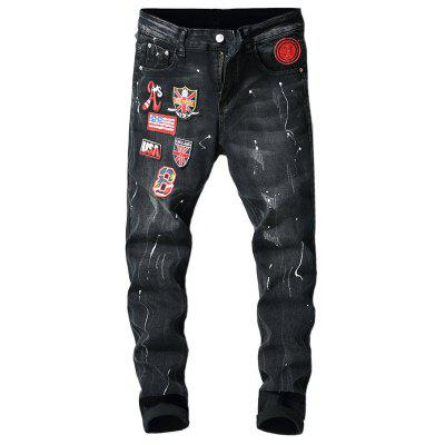 Stylish Embroidered Design Jeans for Men