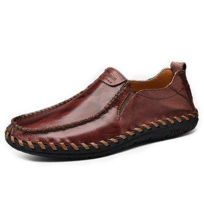Leisure Lightweight Slip-on Men Leather Casual Shoes