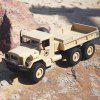 MZ YY2003 2.4G 6WD 1/12 RC Military Truck Toy - BLANCHED ALMOND