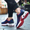 Men Lace Up Mesh Fabric Cushion Casual Athletic Sports Shoes Sneakers - RED