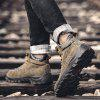 Outdoor American Style Warm-keeping Men Boots - GRAY