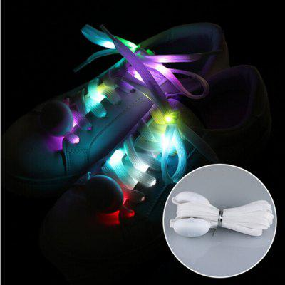 Moda al aire libre fresco LED brillante Shoestring 2pcs