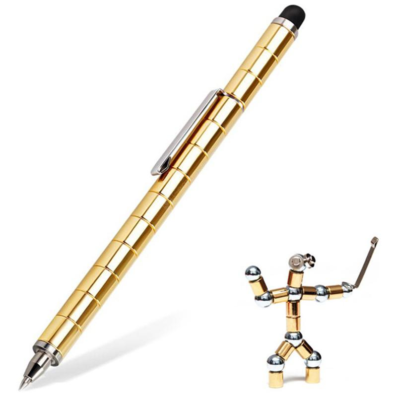 2 in 1 Magnetic Electronic Screen Writing Pen Stylus Set - GOLD