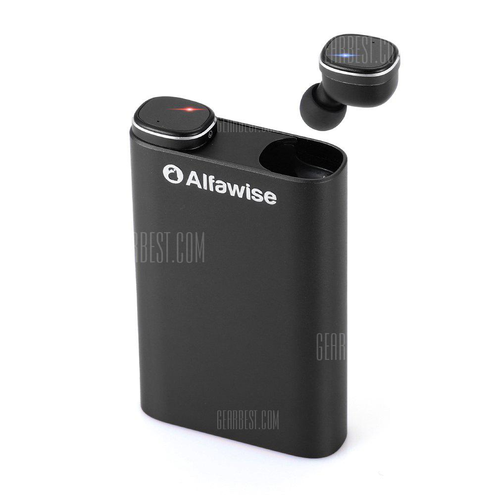 Alfawise Mini True Wireless Bluetooth Earphones - GRAPHITE BLACK