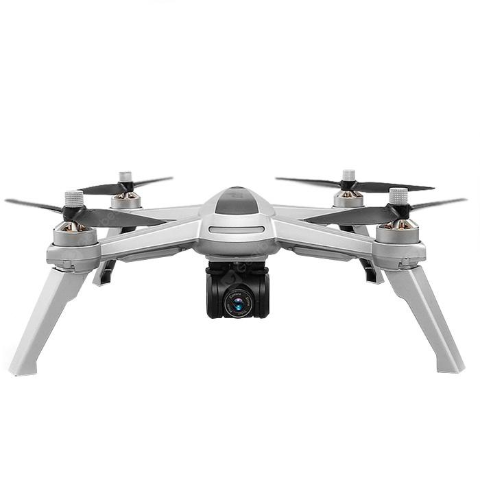JJRC JJPRO X5 5G WiFi FPV RC Drone GPS Positioning Altitude Hold 1080P Camera - LIGHT GRAY WITH 1 BATTERY