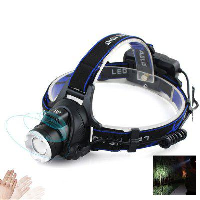 10W IR Sensor Headlight Zoomable Head Lamp