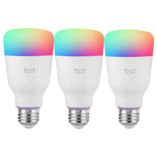 YEELIGHT 10W RGB E26 Smart Light Bulbs 3pcs
