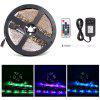 2835RGB Home Decoration RF Control LED Lamp Strip 5m - BLACK