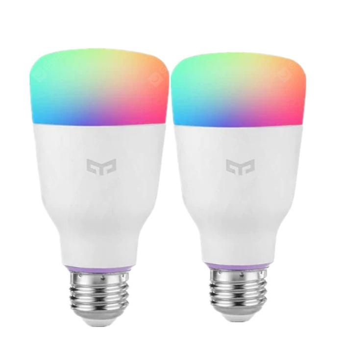 YEELIGHT 10W RGB E26 Smart Light Bulbs 2pcs - White E26 2PCS