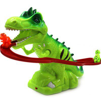 Funny Kids Electric Tracks Climb Stair Dinosaur Model Toy Set