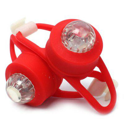 Silica Gel Bicycle Safety Night Tail Light 2pcs