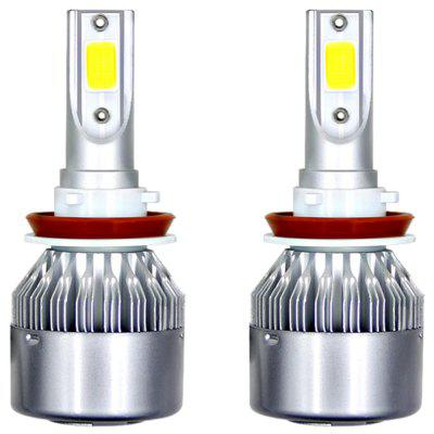 C6 H11 Car LED Headlight Bulbs Headlamps Fog Lights 2pcs