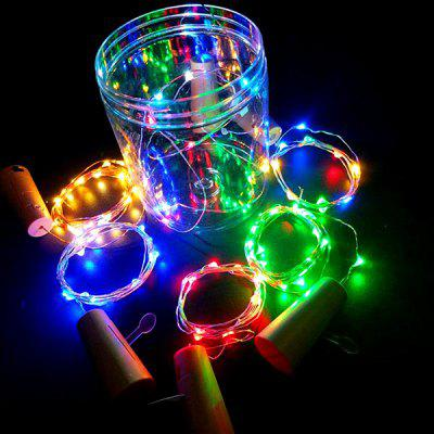 2m 20-LED Cork Shaped Wine Bottle Stopper String Light 6PCS