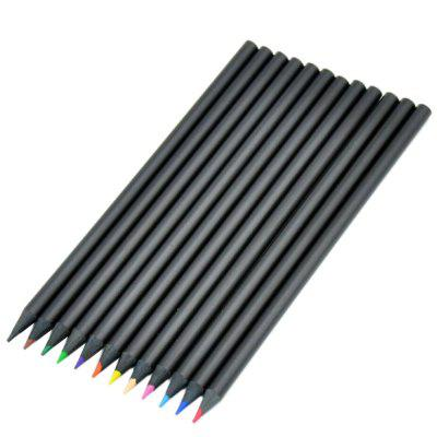 Black Painting Wood Colored Pencil 12PCS