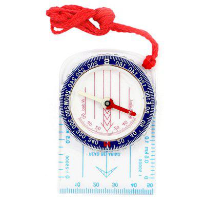 Outdoor Compass Map Ruler for Camping Travel