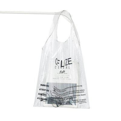 Fashion Letter Transparent PVC Hand Bag