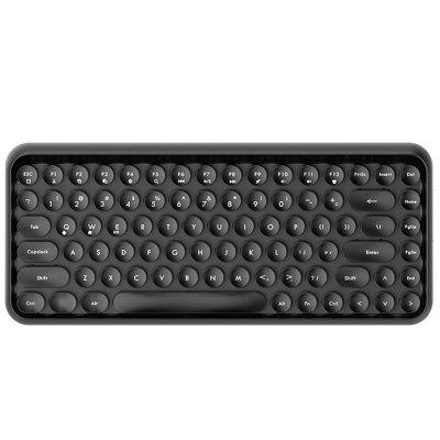 Ajazz 308i Vintage tragbare Bluetooth Wireless Keyboard 84 Tasten