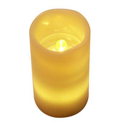 Creative LED Candle Night Light Projector Lamp