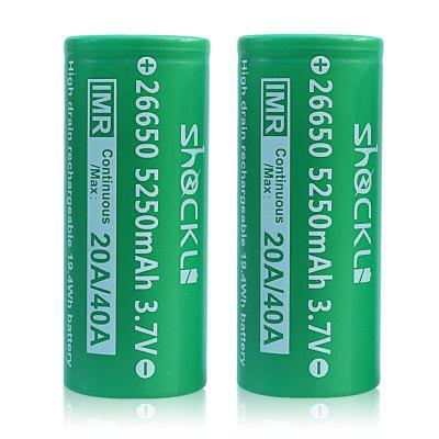 ShockLi IMR 26650 5250mAh Rechargeable Battery 2pcs
