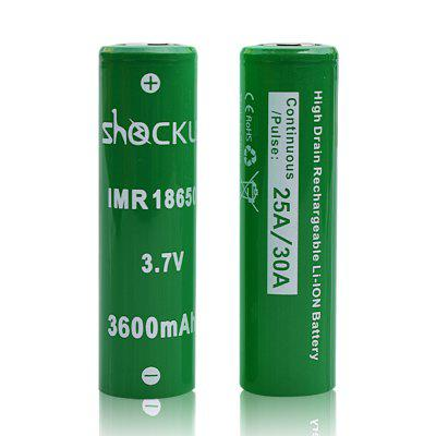 ShockLi IMR 18650 3600mAh Rechargeable Battery 2PCS