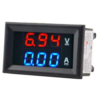 Dual LED Display Digital Multimeter Voltmeter Amperemeter Tester