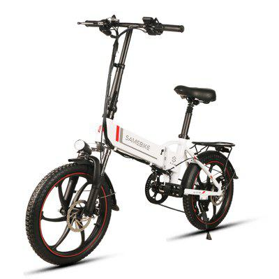 Gearbest Samebike 20LVXD30 Smart Folding Electric Moped Bike E-bike - WHITE EU PLUG