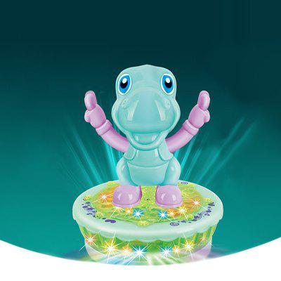 Cartoon Electric Dinosaur Rotating Universal Car Toy