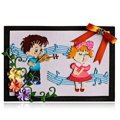 DIY Carbon Steel Singing Boy Girl Pattern Cutting Die