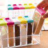 Fashionable 6 in 1 Plastic Seasoning Box Set in Kitchen - TRANSPARENT