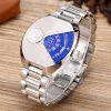 Trendy Quartz Watch with Steel Band for Men - SILVER