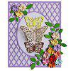 Grid Butterfly Rectangular Frame Metal Cutting Dies - SILVER