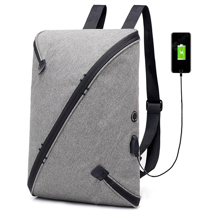 DINGXINYIZU USB Charging Anti-theft Backpack Travel Student Bag - DARK GRAY