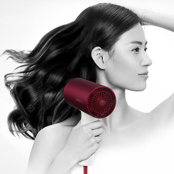 SOOCAS H3S Negative Ion Quick Dry Hair Dryer from Xiaomi youpin - RED WINE