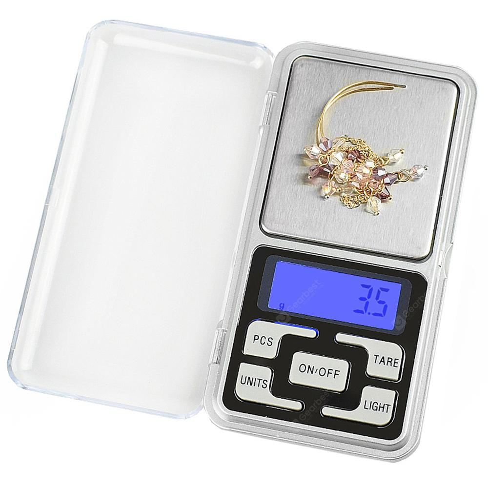 Mini Pocket Digital Scale - Silver 200g/