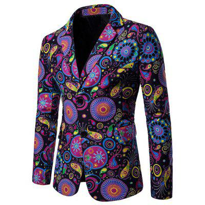 Fashion Printing Slim Blazers for Men