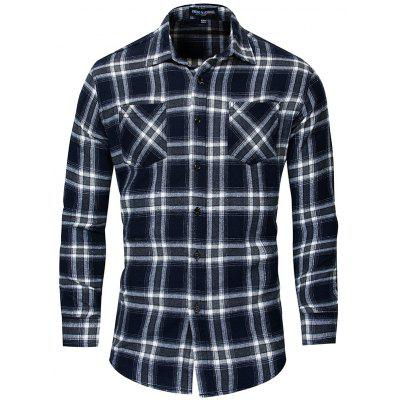 FREDD MARSHALL FM173  Casual Plaid Shirt for Men