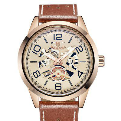 BAGARI 1686P Leather Quartz Male Watch