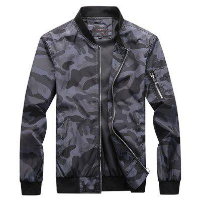 Trendy Camouflage Casual Jacket for Men
